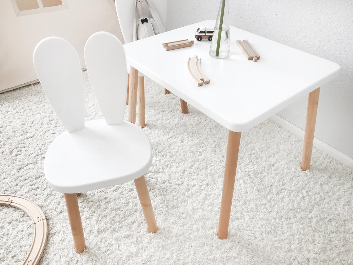 beyaz çocuk masa ve sandalye takımı